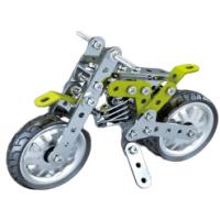 Металлический конструктор - Мотоцикл, 120 деталей(тип 2)