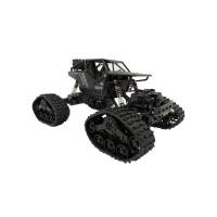 Краулер р/у Вездеход, 4WD, гусеницы + доп.комплект колес, черный. Масштаб 1:16