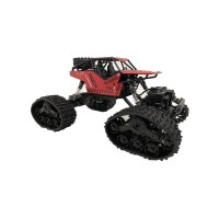 Краулер р/у Вездеход, 4WD, гусеницы + доп.комплект колес, красный. Масштаб 1:16
