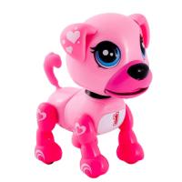 Интерактивный щенок розовый