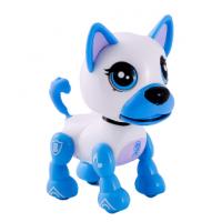 Интерактивный щенок бело-синий