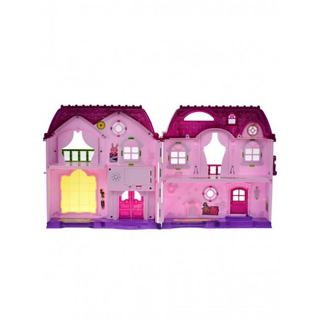 Кукольный домик с мебелью. Большой двухэтажный дворец для кукол