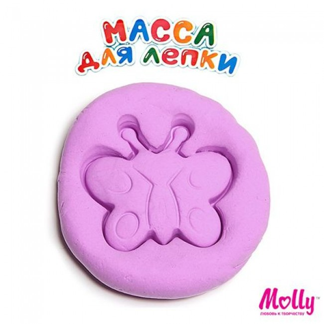 """Набор для детского творчества """"Масса для лепки"""", цвет фиолетовый, 15 грамм, MOLLY"""
