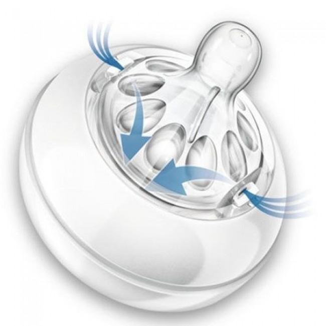 Соска AVENT Natural силикон, поток переменный, от 3 мес, 2 шт
