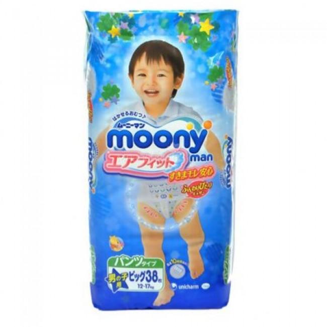 Подгузники-трусики MOONY для мальчиков 12-17 кг, 38 шт, размер XL