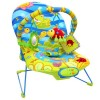 "Шезлонг УТИ ПУТИ ""Счастливый лягушонок"", 51х78х59 см, 1 дуга, 3 игрушки, вибро, музыка"