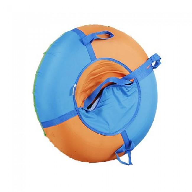 Санки-ватрушки ЕДУ-ЕДУ надувные, 3-х цветные, с камерой НПОК+2, диаметр 80 см, цвета в ассортименте