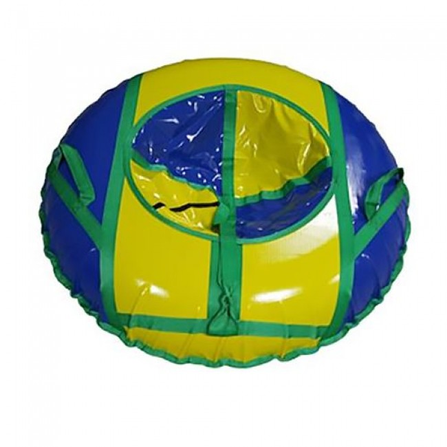 Санки-ватрушки ЕДУ-ЕДУ надувные, Принт, 3-х цветные,с кам. НПК+4,диаметр 100см, цвета в ассортименте
