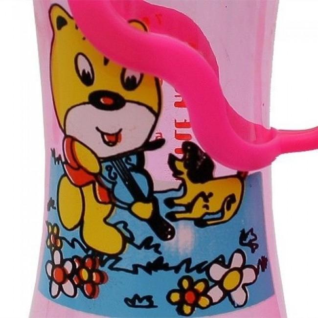 Бутылочка БУСИНКА с ручками цветная, 250 мл