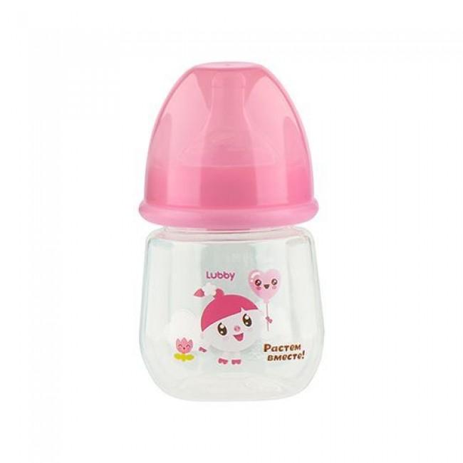"Бутылочка для кормления LUBBY ""Малышарики"", 125 мл, от 0 мес"