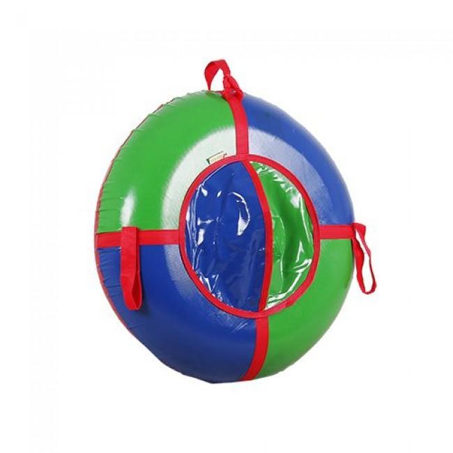 Санки-ватрушки ЕДУ-ЕДУ надувные, 3-х цветные, с камерой НПЭК+3, диаметр 80 см, цвета в ассортименте