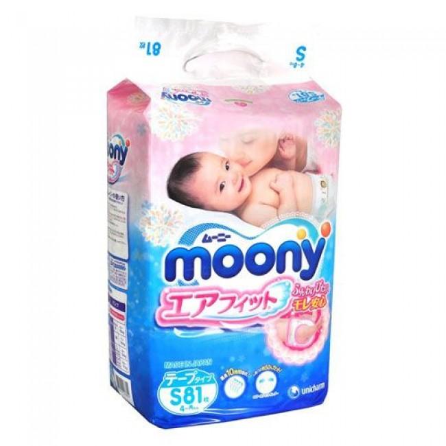 Подгузники MOONY Эконом 4-8 кг, 81шт., размер.S