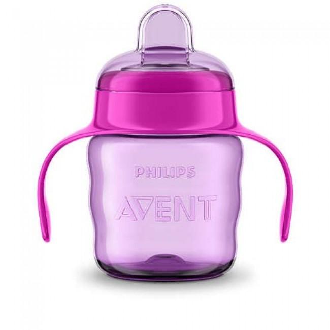 Чашка-поильник AVENT Comfort с носиком, розовая, с 6 мес., 200 мл
