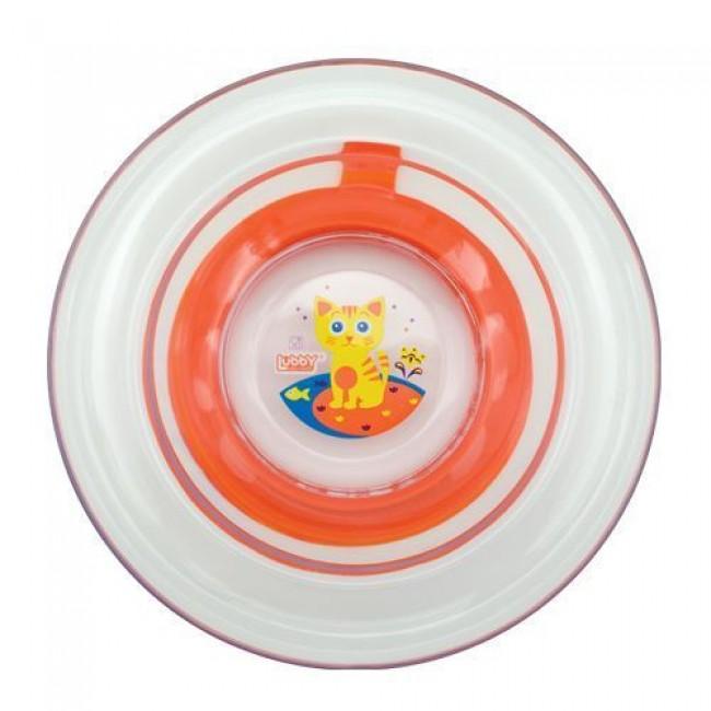 Тарелка LUBBY Русские мотивы от 6 мес, пластик, с присоской