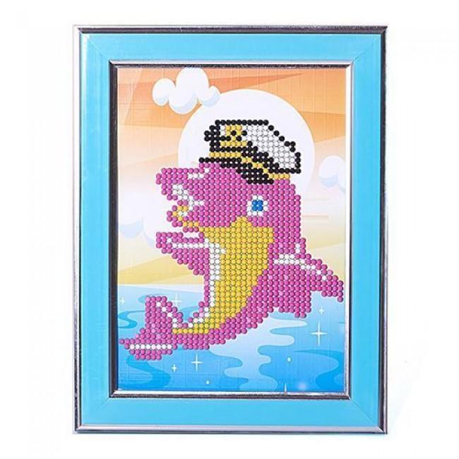 """Набор для детского творчества """"Картины мозаикой Дельфин-моряк"""", 5 цветов, 17х22, MOLLY"""