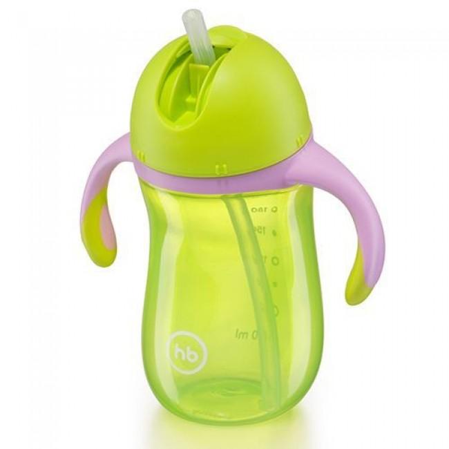 Поильник HAPPY BABY с трубочкой и ручками STAR FEEDING CUP, от 12 мес, 260мл