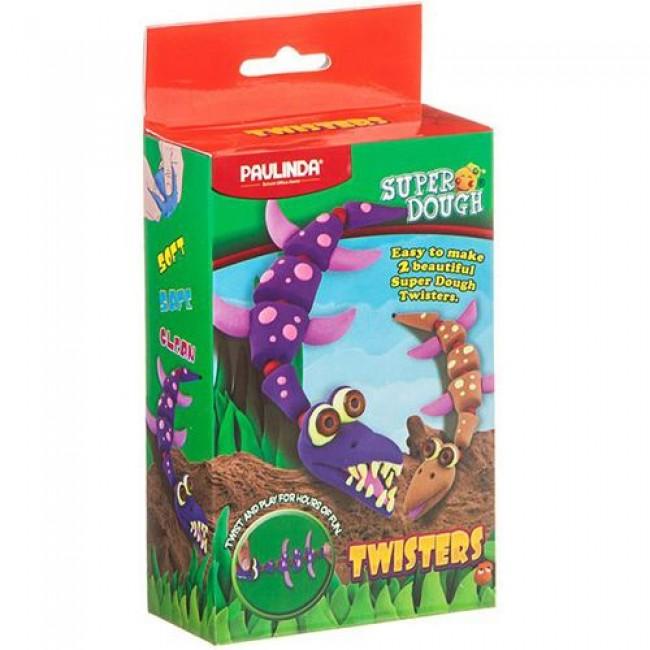 """Набор """"Twisters. Динозавры"""", с массой для лепки, Динозавры, PAULINDA"""