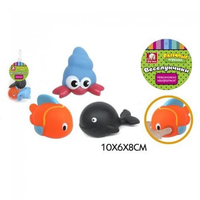 "Игрушки для купания ""Веселунчики Море"", брызгалки, S+S TOYS"