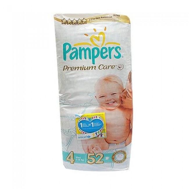 Подгузники PAMPERS Premium Care Maxi, 8-14 кг, Экономичная Упаковка, 52 шт