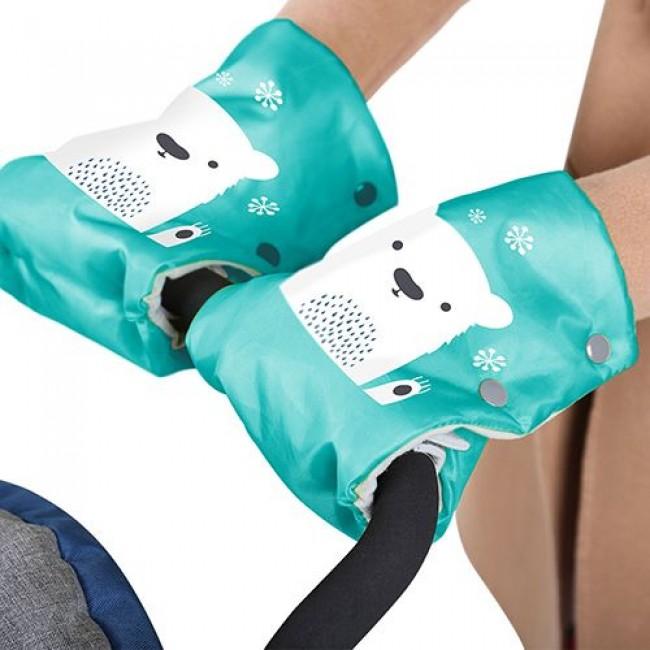 Муфта для рук NIKA KIDS  раздельная, на коляску и санки, 100%ПЭ, синтепон, полибраш