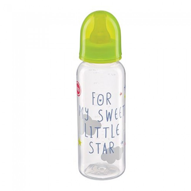 Бутылочка HAPPY BABY латексная соска 0+, 250 мл.