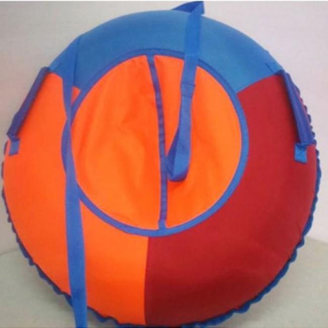 Санки-ватрушки ЕДУ-ЕДУ надувные,3-х цветные,с камерой НПОК+-110,диаметр 110 см, цвета в ассортименте