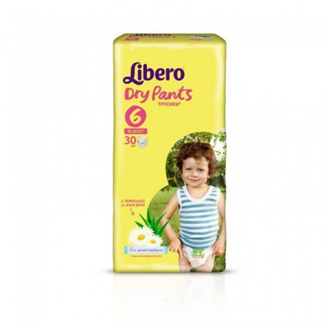 Трусики LIBERO Dry Pants Extra Large 13-20 кг, экономичная упаковка, 30 шт
