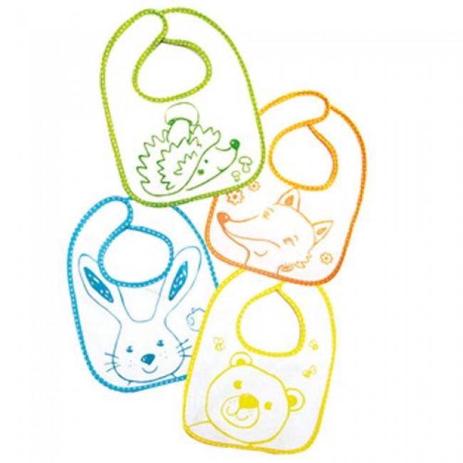 Слюнявчик ПОМА махровый на липучке, комплект из 2 шт, 28,5*20 см