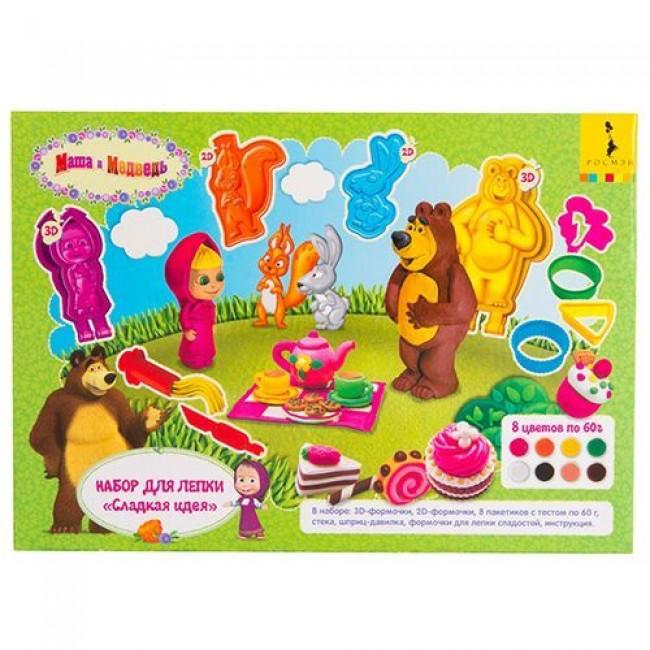 """Набор для лепки """"Сладкая идея. Маша и Медведь"""", 24 см, РОСМЭН"""