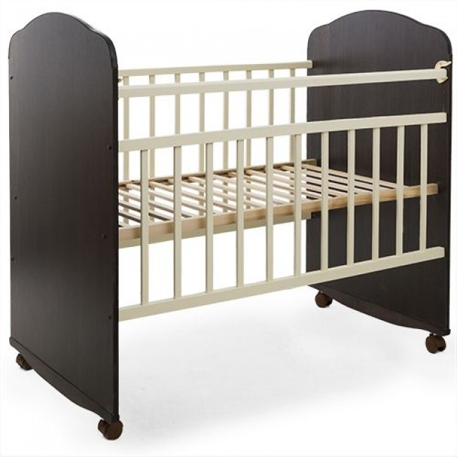 """Кроватка детская ЗОЛУШКА """"Золушка-8"""" 120*60 классическая, колесо-качалка"""