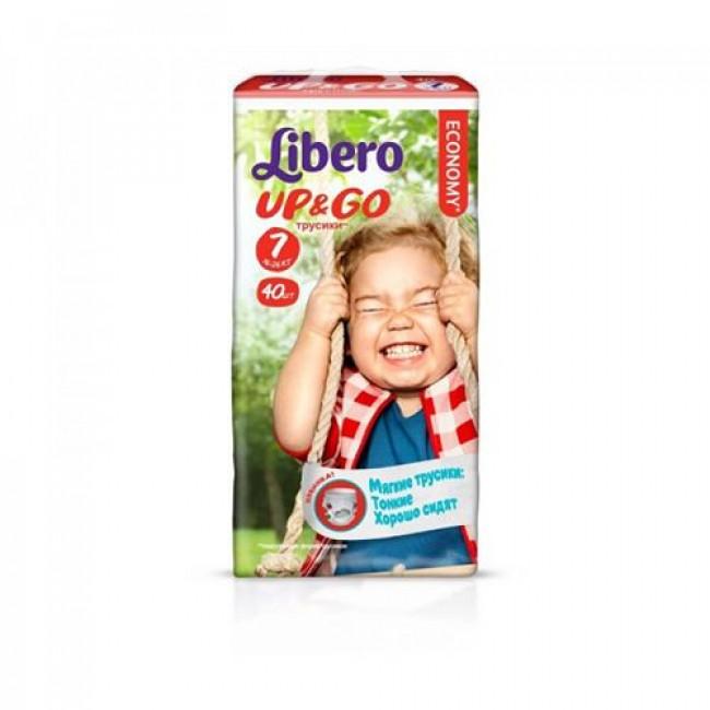 Трусики LIBERO UP&GO Extra Large+ 16-26 кг, мега упаковка, 40 шт