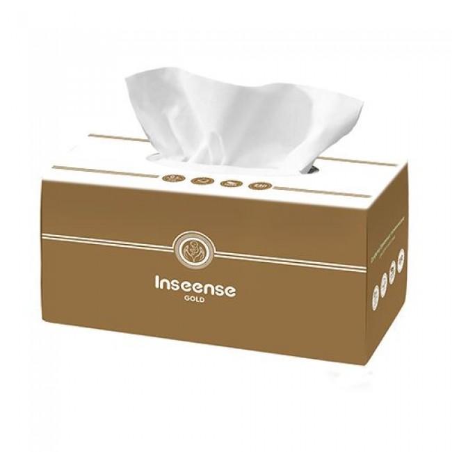 Салфетки бумажные INSEENSE белые, 2 слоя, 250шт
