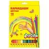 Набор цветных карандашей, 18 цветов, шестигранные, КАЛЯКА-МАЛЯКА