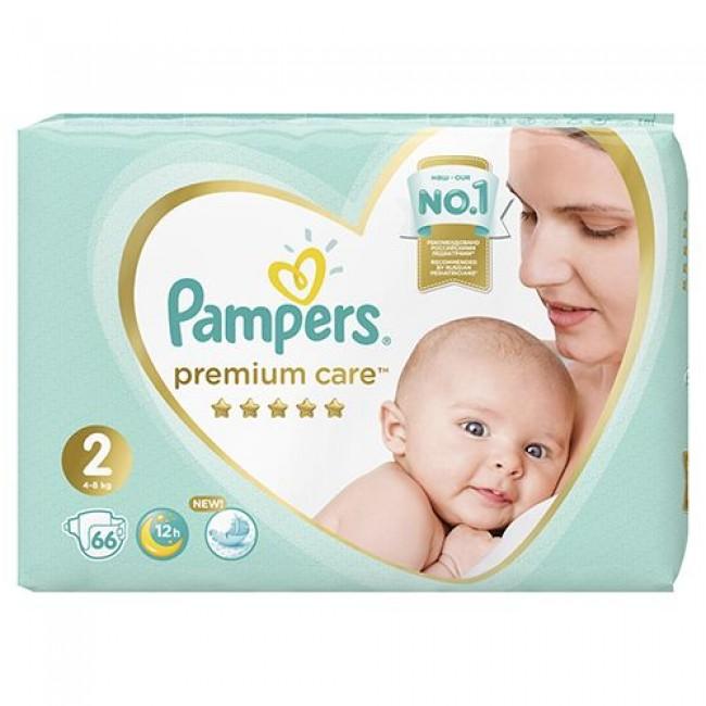 Подгузники PAMPERS Premium Care Mini, 4-8 кг, экономичная упаковка, 66 шт