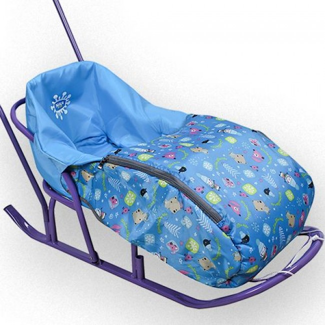 Сиденье для санок с чехлом для ног с молнией, из водоотталкивающей ткани