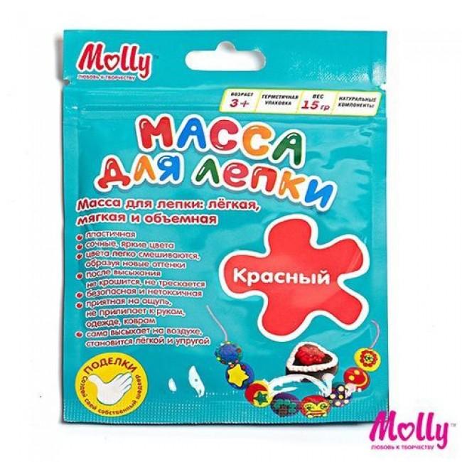 """Набор для детского творчества """"Масса для лепки"""", цвет красный, 15 грамм, MOLLY"""