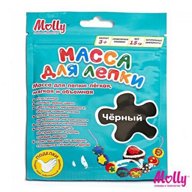 """Набор для детского творчества """"Масса для лепки"""", цвет черный, 15 грамм, MOLLY"""