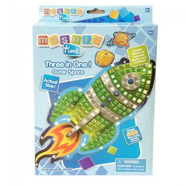 """Игрушка пластмассовая мозаика """"Космос"""", 3в1, более 500 деталей мозаики, FUNNIVATION"""