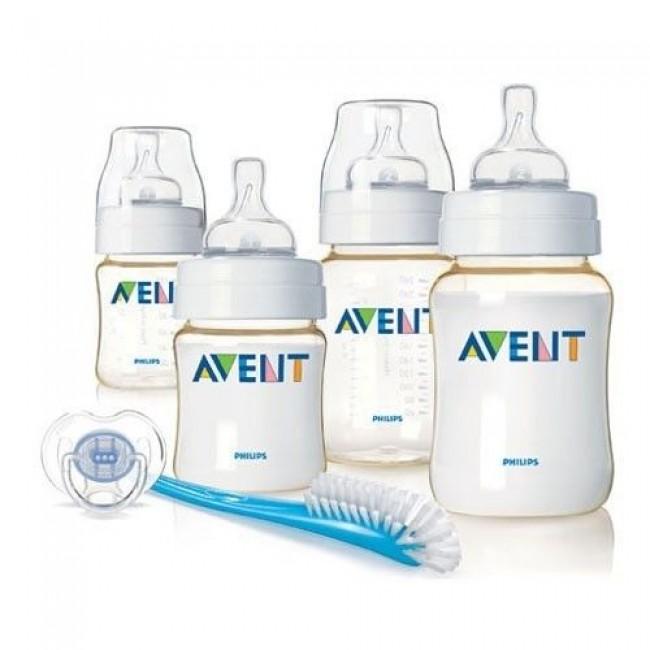 Набор бутылочек для новорожденных AVENT PP (2х125, 2х260, пустышка, щеточка)