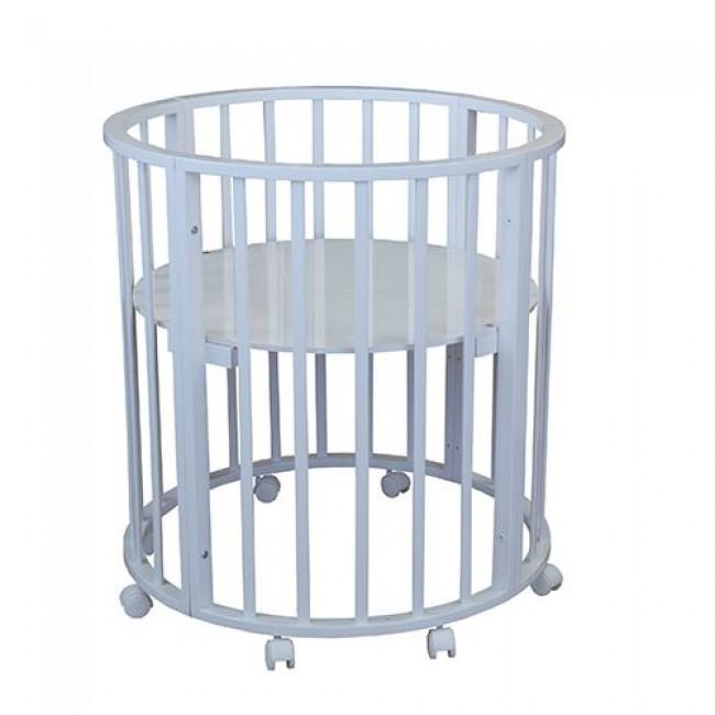 """Кроватка детская """"Лаура 3 в 1"""" трансформер,  овальная, круглая, манеж"""