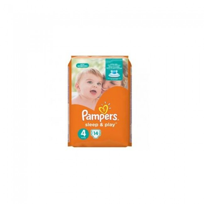 Подгузники PAMPERS Sleep & Play Maxi (9-14 кг), 14 шт