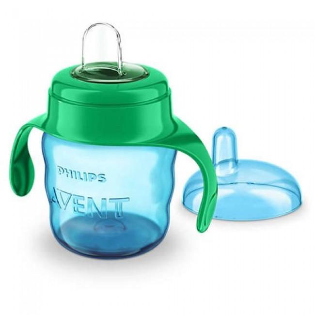 Чашка-поильник AVENT Comfort с носиком, голубая, с 6 мес., 200 мл