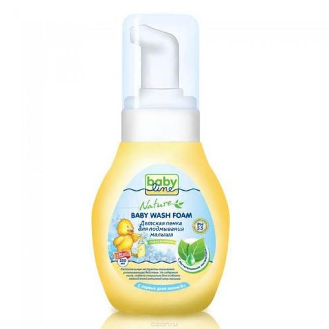 Пенка BABYLINE для подмывания малыша с растительными экстрактами, 280мл