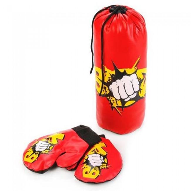 Набор для бокса (груша, перчатки), в сетке, 32см