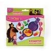 "Набор для творчества ""Тесто для лепки Маша и медведь Кондитер"", 3 цвета, с аксессуарами,  MULTIART"