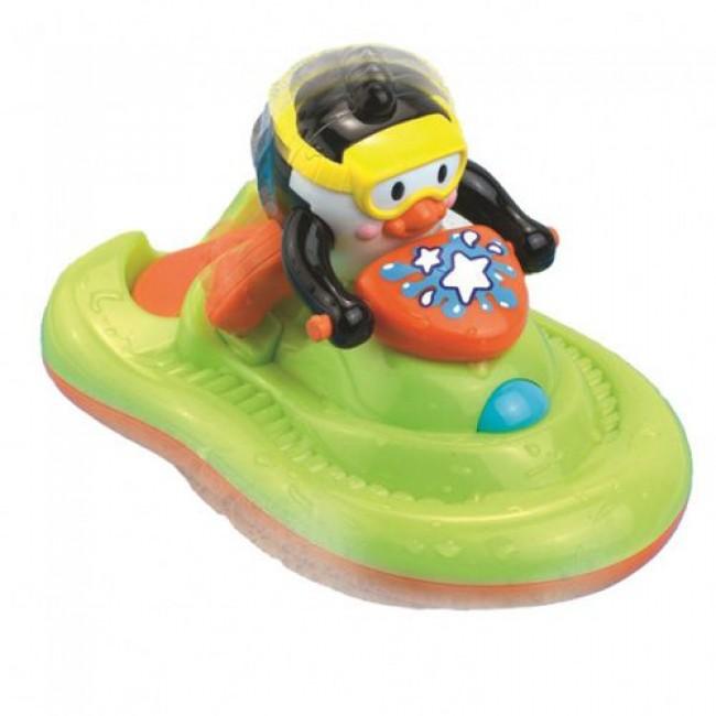 "Игрушка для купания ""Пингвиненок на катере"", HAPPY KID"