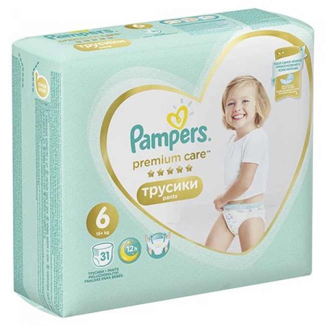 Подгузники-трусики PAMPERS Premium Care Pants Extra Large,15+ кг, 31 шт