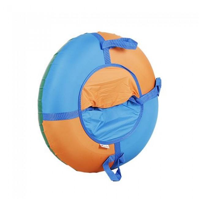 Санки-ватрушки ЕДУ-ЕДУ надувные, 3-х цветные, с камерой НПОК+3, диаметр 75 см, цвета в ассортименте