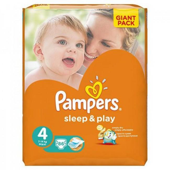 Подгузники PAMPERS Sleep & Play Maxi, 8-14 кг, Джайант Упаковка 86 шт р.4