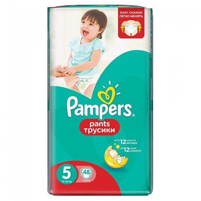Подгузники-трусики PAMPERS Pants Junior, 12-18 кг, Джамбо Упаковка 48 шт.